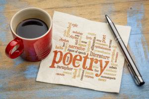 poetry word cloud on napkin